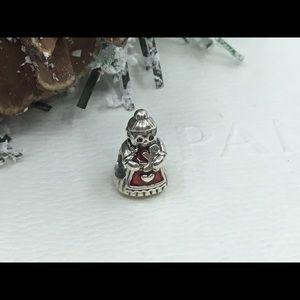 Pandora Mrs Claus Sterling & Red Enamel Charm